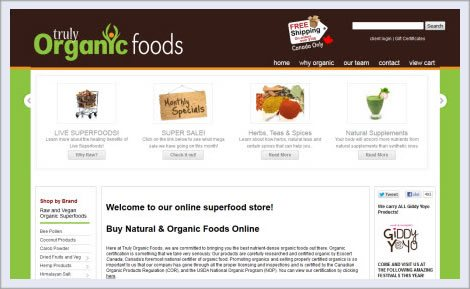 Truly organic foods