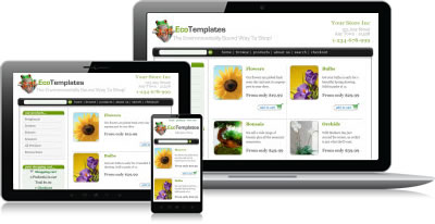 Responsive Ecommerce Templates Shopping Cart Software From ECT - Responsive shopping cart template