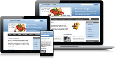 Responsive design shopping cart software
